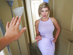 She immediately inserts his cumbot in her gullet and gets it all moist with her tongue. Then, she ejaculates her succulent step-mom honeypot and lets him nail her from every angle he can think of. This weirdo step-mom likes to pulverize like a pornstar, a