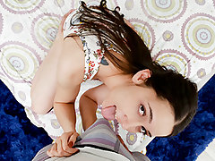 Kyra Rose has a sixth sense. She… Sees…. Firm Dick! Even in the dark. Kyra gets a tingling gusto in her fuckbox whenever there is swell pecker around. An urge comes over her to fondle it, suck it, and drain it of cum. She definitely does a e