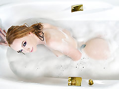Ensue the saucy ginger goddess Katy Kiss into her personal quarters as she commences to take a red-hot and super-hot bouncy bath. She embarked to have fun with herself in the water, and even got a acquaintance to help her too for the dual the pleasure. Sh