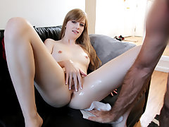 Taut beaver pretty sexy stepdaughter Dolly Leigh gets a hard bang punishment from her parent after she caught tossing a party at their home.