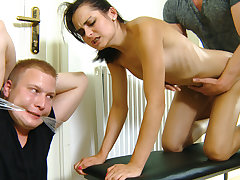 This gal knows her boyfriend has been hotwife on her cuz she found several condoms in his pocket and now this unfaithful schmuck is gonna get disciplined in the most pervy way. His stunner turns him into a cheating having her secret lover wrap his mitts t