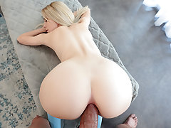 Alica heats up her butt with buttfuck beads before getting her butt boned and creampied.